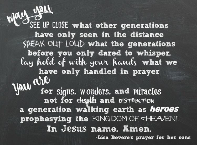 lisa's prayer chalk board